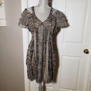 WALTER BAKER NWT silk zebra/floral dress